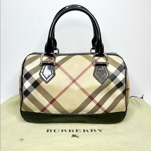 Authentic Burberry Nova Check Bowling Bag